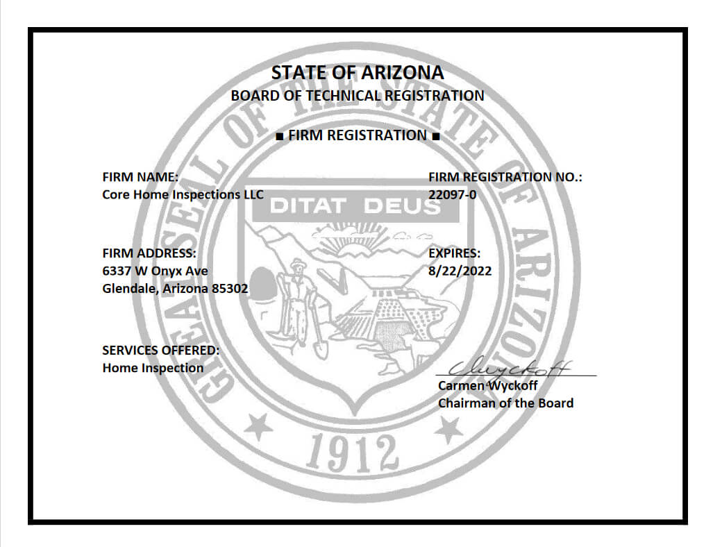STATE OF ARIZONABOARD OF TECHNICAL REGISTRATION